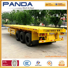 3 Axles 40ft Flatbed Container Carrier, Flatbed Container Home, Container Trailer for sale