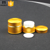gold color cosmetic jar aluminium,aluminum cream jar for cosmetic