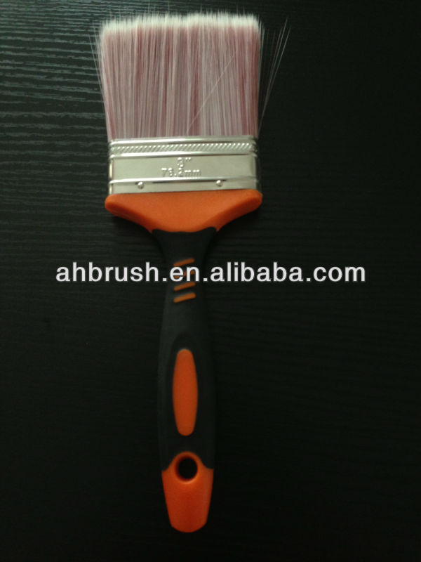 2C round lacquered wooden handle black bristle paint brush/ designer rubber paint roller