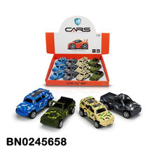 1:48 Pull Back Die Cast Car Model Camouflage Off-road Cars Toy