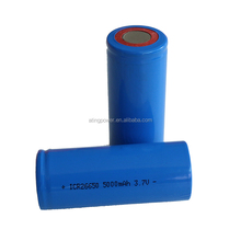 High Quality 3.7V ICR26650 5000mAh Lithium Battery with 800 Times Cyle Life for Electronic Tool, Storage Energy, E-bike