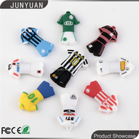 OEM customer logo usb pen drive football T-shirt PVC usb flash drive