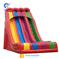 High quality rainbow largest inflatable water slide,jumping bounce slide,giant water slide inflatable for water park