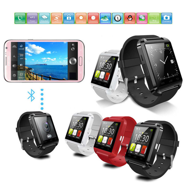 Ce Rohs U8 Plus MTK2502 Ios Bracelet Mobile Watch Phone Smartwatch Touch Screen Wrist Bluetooth Android Smart Watch 2016