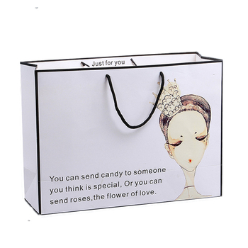 Luxury special foldable paper shopping bag with rope handle