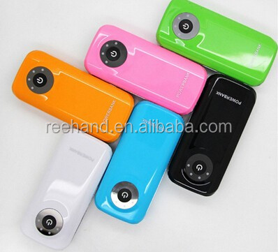 Portable power bank mobile phone battery charger 4400mAh customized color with LED torch light