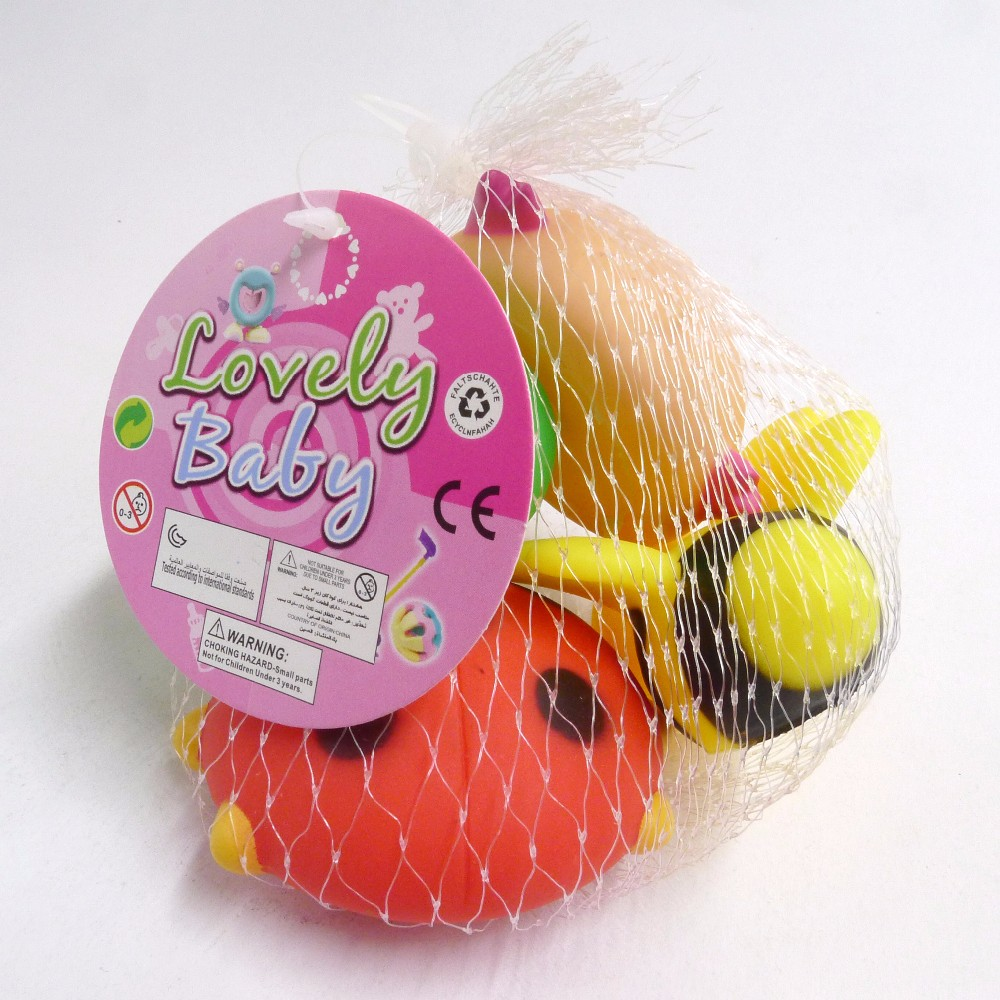 BPA free PVC Insect Squeaky Baby Bath Toys with EN71 Passed