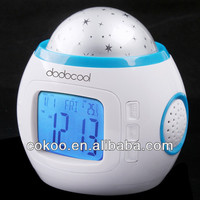hot selling battery power LED alarm clock projection table clock