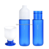 500ml plastic drink water bottle with cups