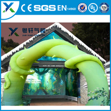 Factory direct durable inflatable home gate arch design/pop arch design for sale