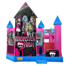 High Monster Castle and Slide inflatable combo, infaltable jumper with slide
