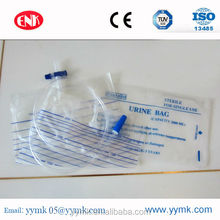 medical plastic hospital push-pull valve disposable urine drainage bag for adult and child