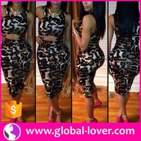 wholesale leopard printed one piece bodycon dress sexy mature women clothes