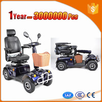 fast 3 wheel motor scooter with big cargo cabin