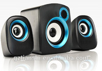 2016 Best quality powerful stereo system multimedia 2.1 mini portable speaker manufacturer