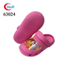 Cute style pink kids soft wooden clogs shoes
