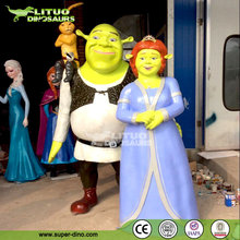Shrek Family Fiberglass Cartoon Model Sculpture