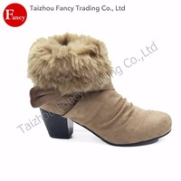 Cheap Price Luxury Breatheable Faux Fur Boots