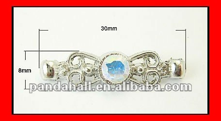 Alloy Rhinestone Spacers Bar(ALRI-B038-S)