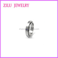 Wholesale Stainless Steel Spinner Ring for Women Wedding Ring with CZ Stone