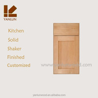 unfinished shaker panel flat drawer face solid pine wood kitchen cabinet doors only