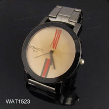 Black Fashion MK Style Metal Strap Watch