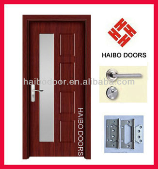 Interior PVC MDF Wooden Glass Door Design For Kitchenbathroom - Glass door designs for bedroom
