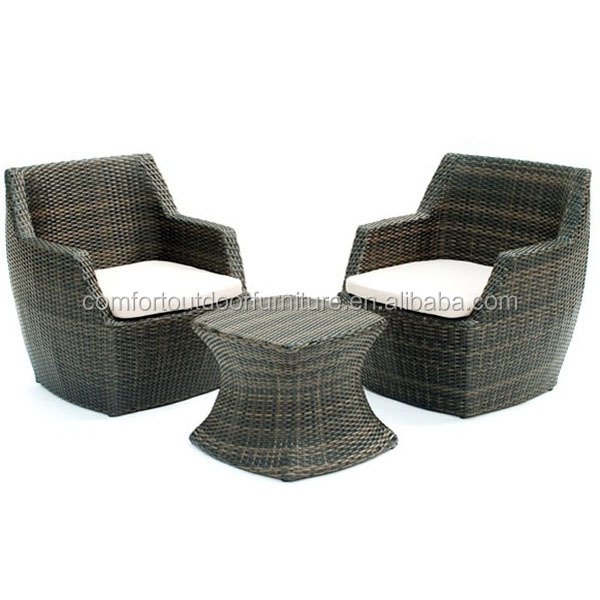 All-weather Leisure <strong>Furniture</strong> <strong>Rattan</strong> Leisure Chair Set in Black color