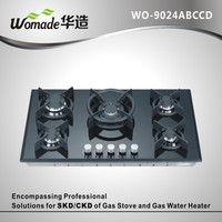 glass Panel Gas Hob/Gas Stove/Gas Cooker cast iron gas cooktop