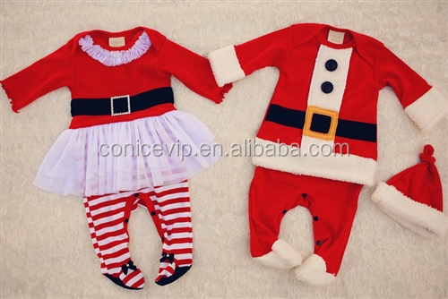 adorable infant baby boy christmas clothes with high quality cotton