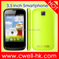 OEM Mobile Phone ALPS A18 3.5 inch MTK6572 Dual Core Dual SIM Bluetooth 4.0 China Cheapest 3G Android Phone Mobile