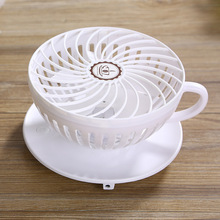 coffee cup designed portable mini fan 90 degree rotary speed control usb desk fan wall hanging electric air blower