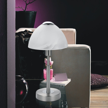 Modern living room decorative glass shade mushroom light side table lamp