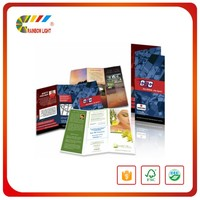 Cheap price a4 size chinese offset printing shoe brochure