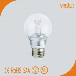 3 years 5W a60 Clear e27 led light bulb 3000K dimmable