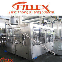 Carbonated Beverage Filling Machine 3in1, Soft Drink Washing Filling Capping, Gas Juice Filling Machine,