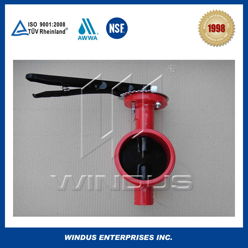 Groove end butterfly valve China supplier