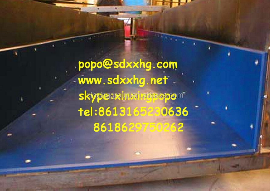 coal bunker for coal chute Uhmwpe poor liner uhmw pool linings