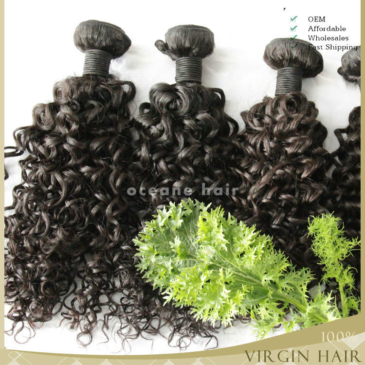 Hot sale!!!most popular full cuticle 2015 new arrivalling curly wholesale price China factory black star hair weave
