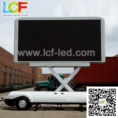 Street Adverting P10 full color car mounted led display