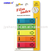 film index good quality Pop-up sticky notes with plastic box for office, school
