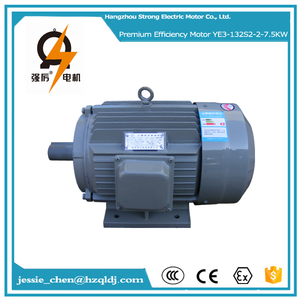 10hp 7.5kw ac 220v 50hz IP54 squirrel cage 3 phase induction electric motor