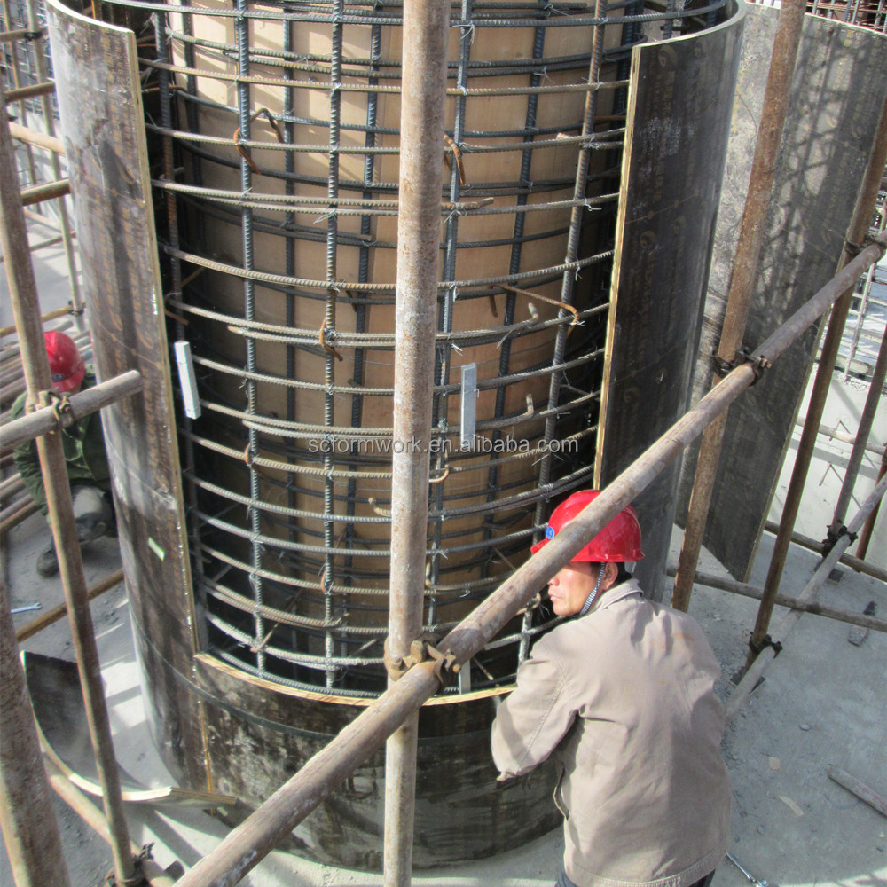 hot sale adjustable plywood circular round concrete column formwork