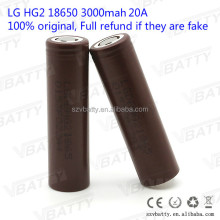 For LG HG2 18650 3000mah 20A 3.7V rechargeable battery with flat top(1 pc)
