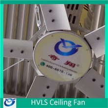 Big volume low speed HVLS fan with Italy Bonfiglioli Motor for factory / plant / warehouse / church