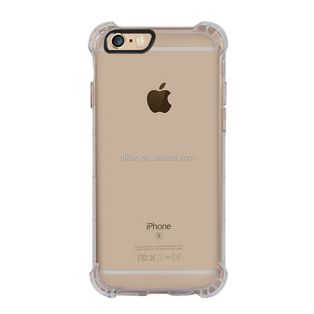Protective phone covers for iphone 6 , air cushion crystal clear shockproof mobile case for iphone 6s