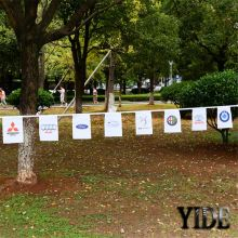 Hot selling custom promotion party string flags triangle bunting