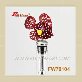 FW70104 funny animal murano glass wine stopper
