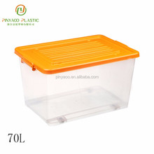 New design stackable customized plastic poster storage box