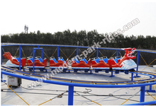 modern attraction Park equipment Chinese Dragon slide roller coaster for sale